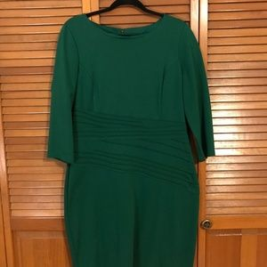 Ellen Tracy Green 3/4 Sleeve Dress